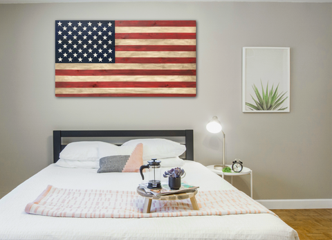 Extra Large American Wood Flag