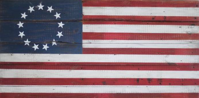 Betsy Ross on Reclaimed | 48x24