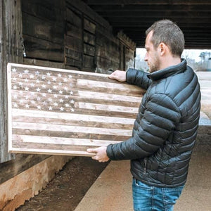 buy Framed Distressed Rustic Flag