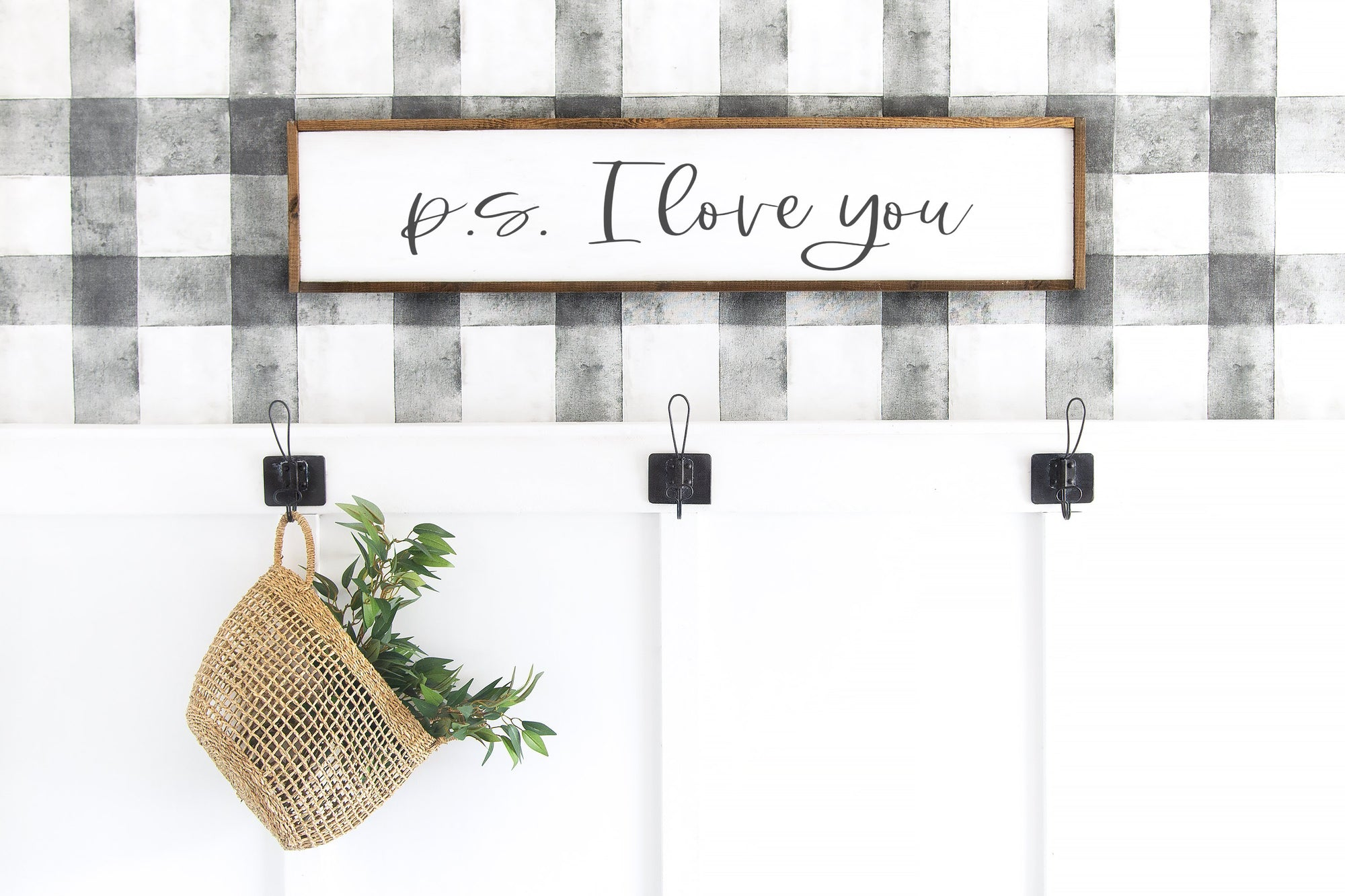 P.S. I Love You Entryway Sign