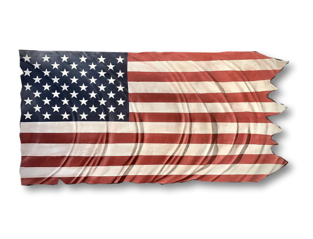 Wind Blown American Flag | 48x24