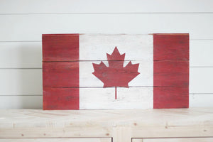 Canadian Flag Wall Art | 24x12