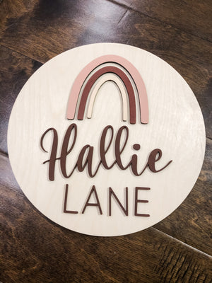 Custom Round Bedroom Sign