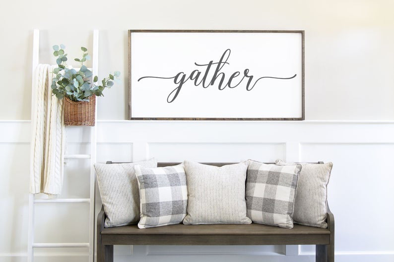 Entryway Gather Sign