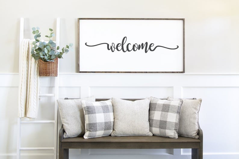 Entryway Welcome Sign