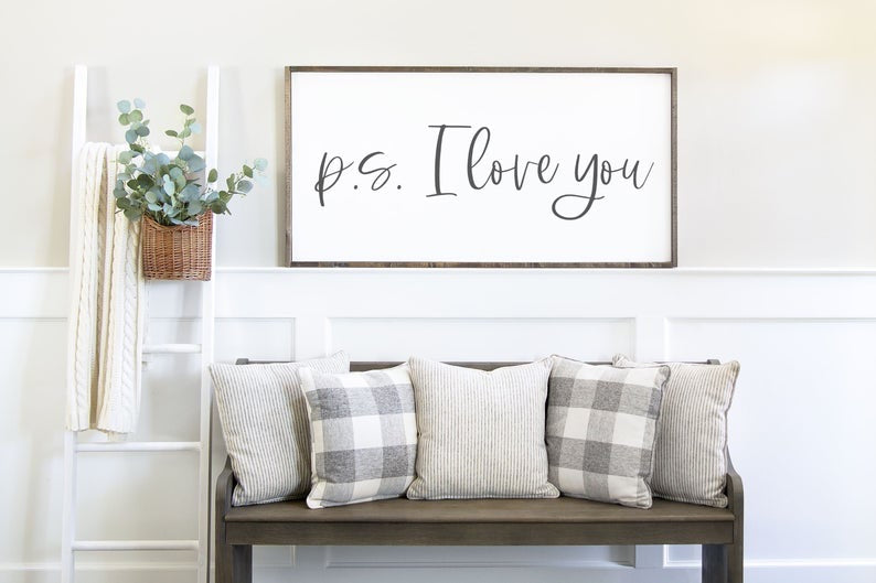 P.S. I Love You Wall Sign