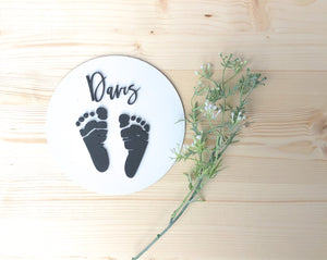 Baby Footprint Personalized Sign