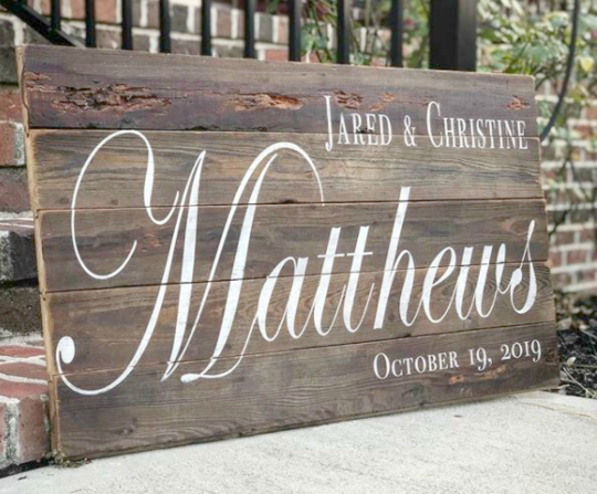 Personalized Wedding Sign | Reclaimed Wall Art