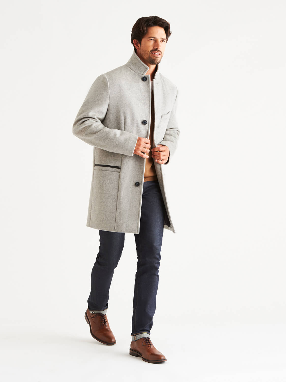 Bordin StormLux™ Wool Cashmere Overcoat