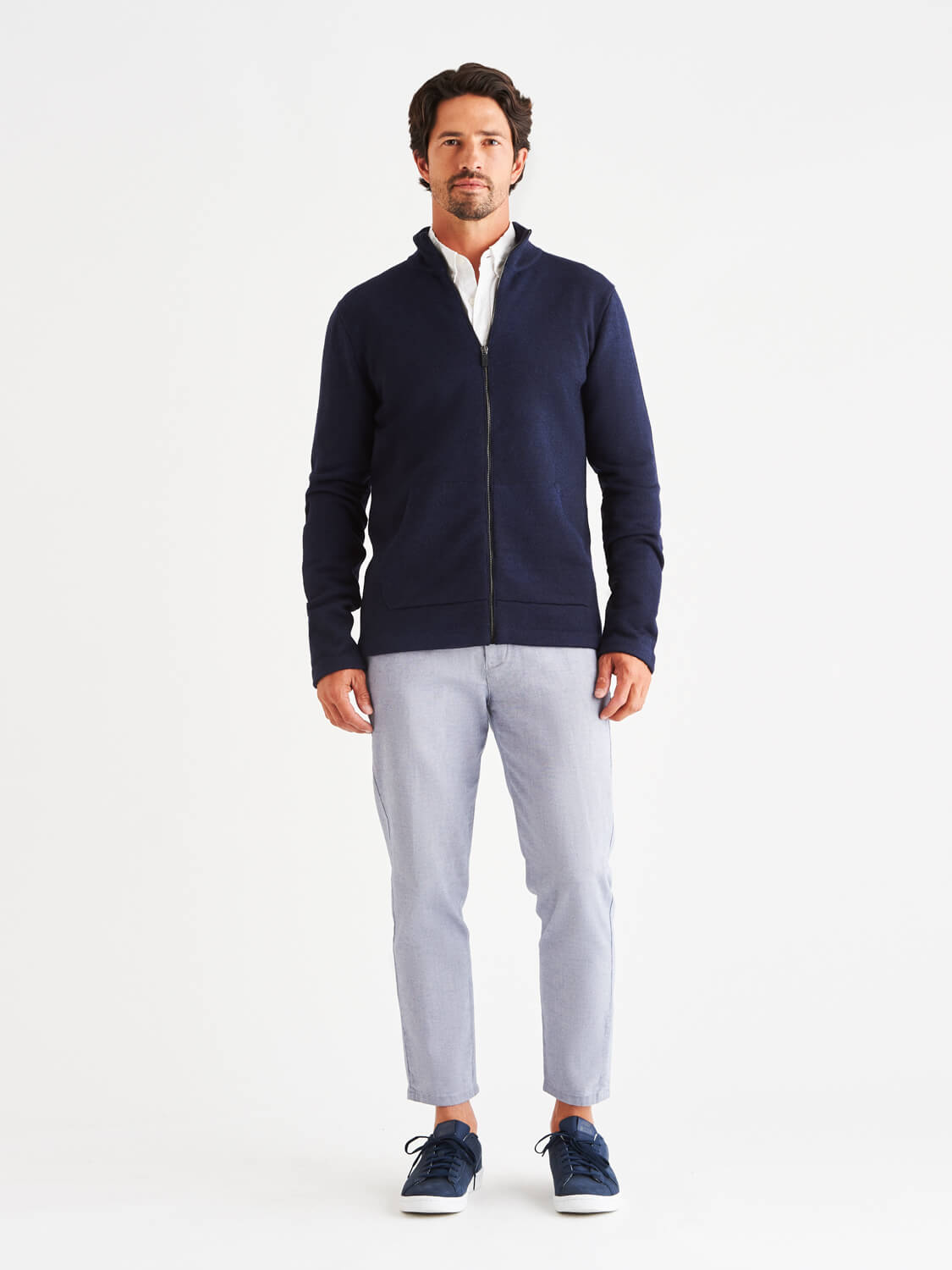 Sidney LuxCore™ Cashmere Zip Sweater