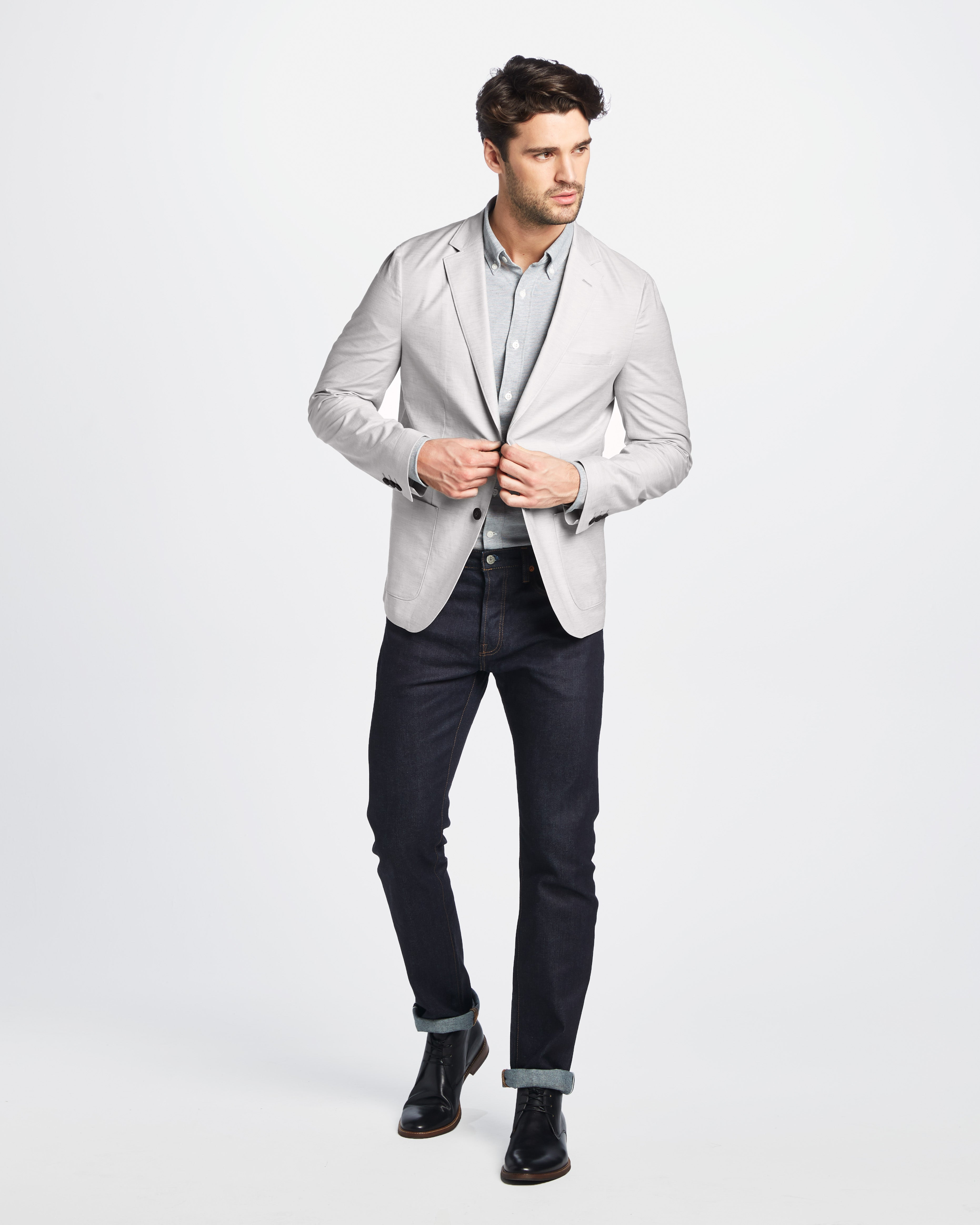 Graham Cotton Linen Stretch Blazer