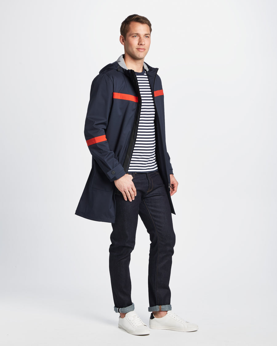 NAVY/RED STRIPE