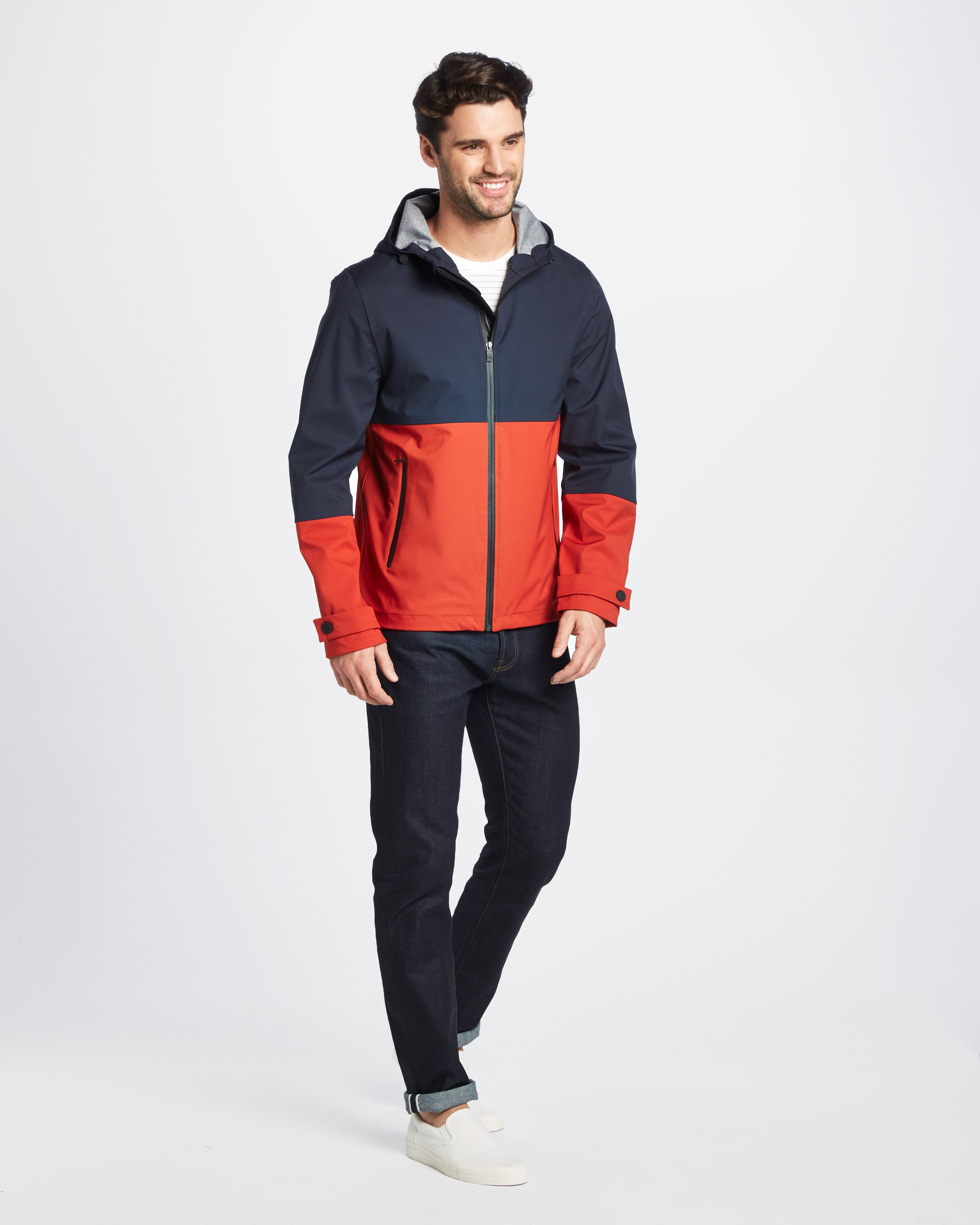 Quinn Contrast Hooded Jacket