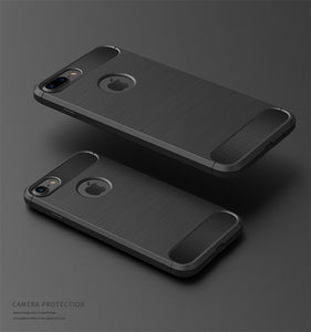 Two black shockproof iphone cases.