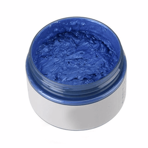 Blue hair color changing wax that is not permanent.