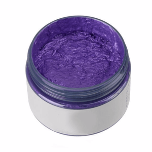 Purple hair color changing wax that is not permanent.