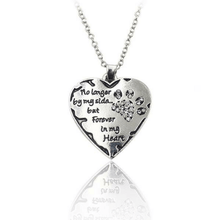 Forever in my heart sterling silver necklace pendant.