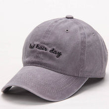 Gray Bad Hair Day Dad Hat.