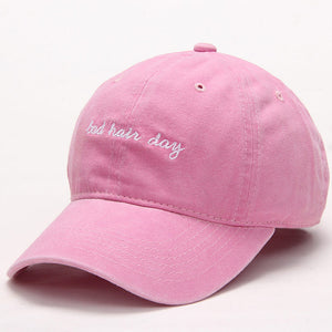 Pink Bad Hair Day Dad Hat.