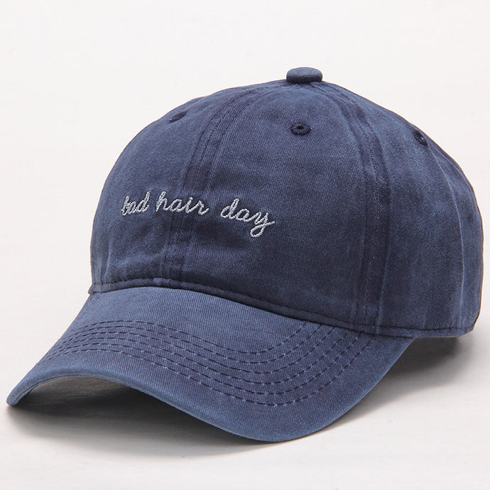 Navy Bad Hair Day Dad Hat.