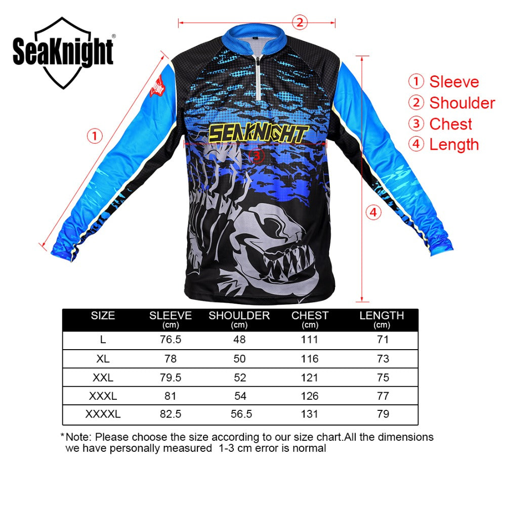 seaknight fishing shirt long sleeve t shirt anti uv breathable quick d outdoor sanity. Black Bedroom Furniture Sets. Home Design Ideas