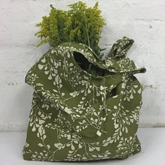 Fern Print Cotton Shopper