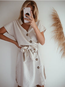 NEW LOVE LINEN DRESS