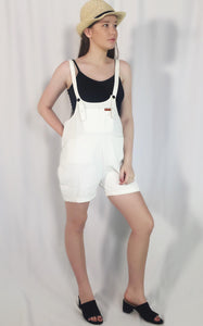 SWEET POT OVERALLS - WHITE