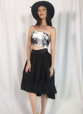 FORMAL FULL BLACK SKIRT