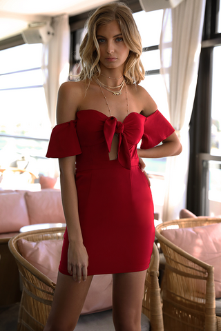 GIGI MINI DRESS RED