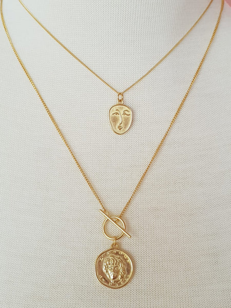 GOLD  COIN PENDANT NECKLACE