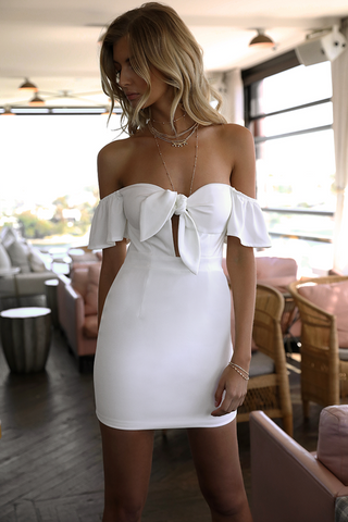 GIGI MINI DRESS WHITE