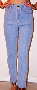REVERSE HIGHRISE PALE WASHED DENIM JEANS
