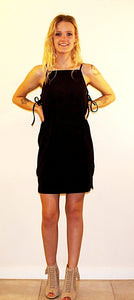 ANAYA  BLACK DRESS WITH METAL RINGS