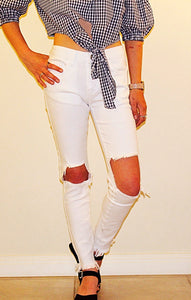 REVERSE WHITE DENIM JEANS