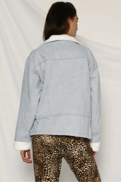 HAYLEY SHEARLING DENIM JACKET