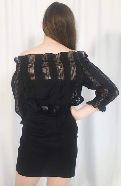 POPPY OFF THE SHOULDER TOP - BLACK