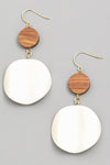 BESSY WOODEN EARRINGS