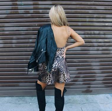 DESTINY LEOPARD PRINT DRESS