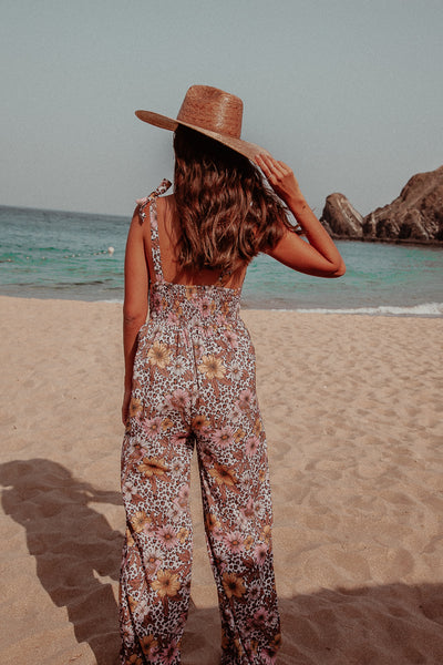 JUNGLE FLORAL LONG JUMPSUIT