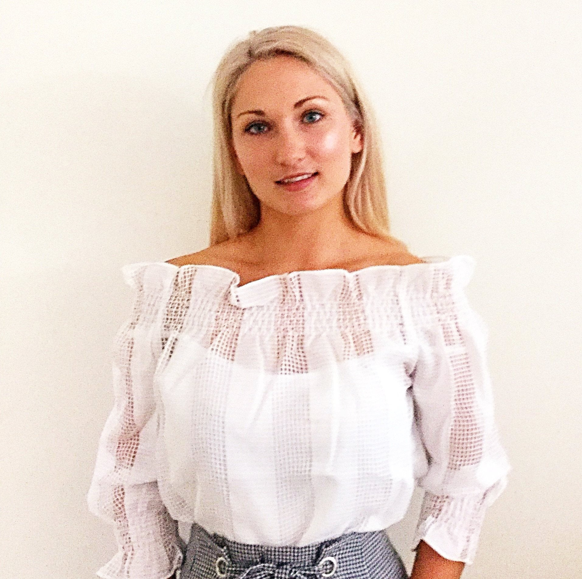 POPPY OFF THE SHOULDER TOP - WHITE