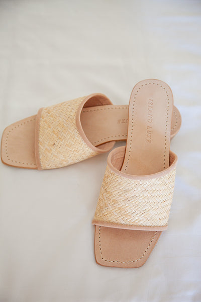 RATTAN OPEN TOE SHOES