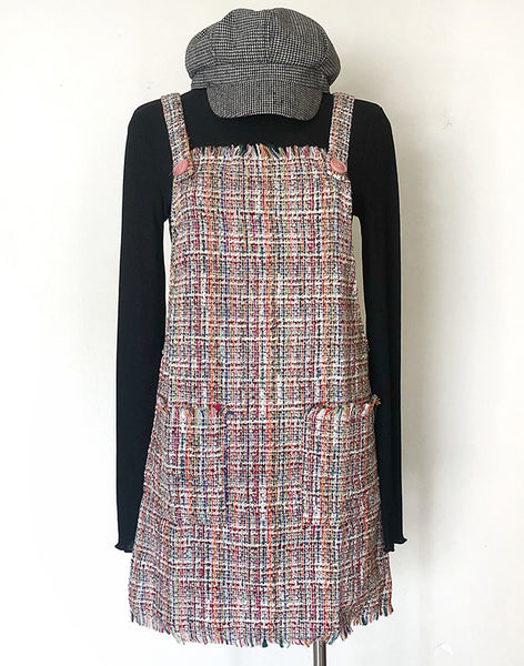 MAKENNA PLAID PINAFORE