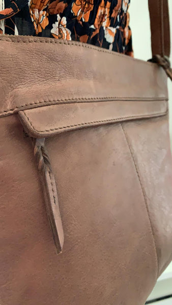ANDREA VINTAGE LEATHER SHOULDER BAG