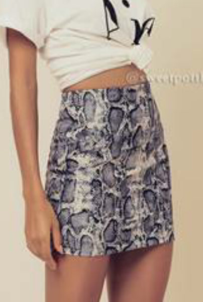 SURRENDER SNAKESKIN SKIRT