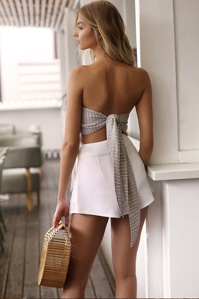 SAIL AWAY WHITE SHORTS