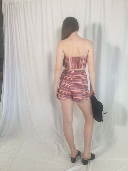 EVA STRIPED SHORTS