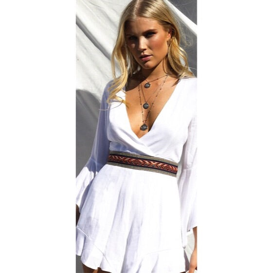 PIPPA PLAYSUIT - WHITE