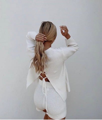 FREYA KNIT SHORT SET