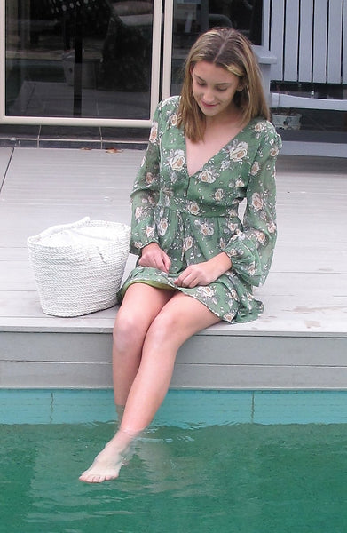 SWEET LOVING DRESS - GREEN